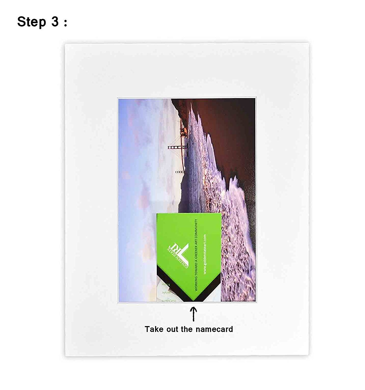 Includes 10 Clear Bags Golden State Art Pack of 10 White 8x10 Slip-in Pre-Adhesive Photo Mat for 5x7 Picture with Backing Board pre-Assembled