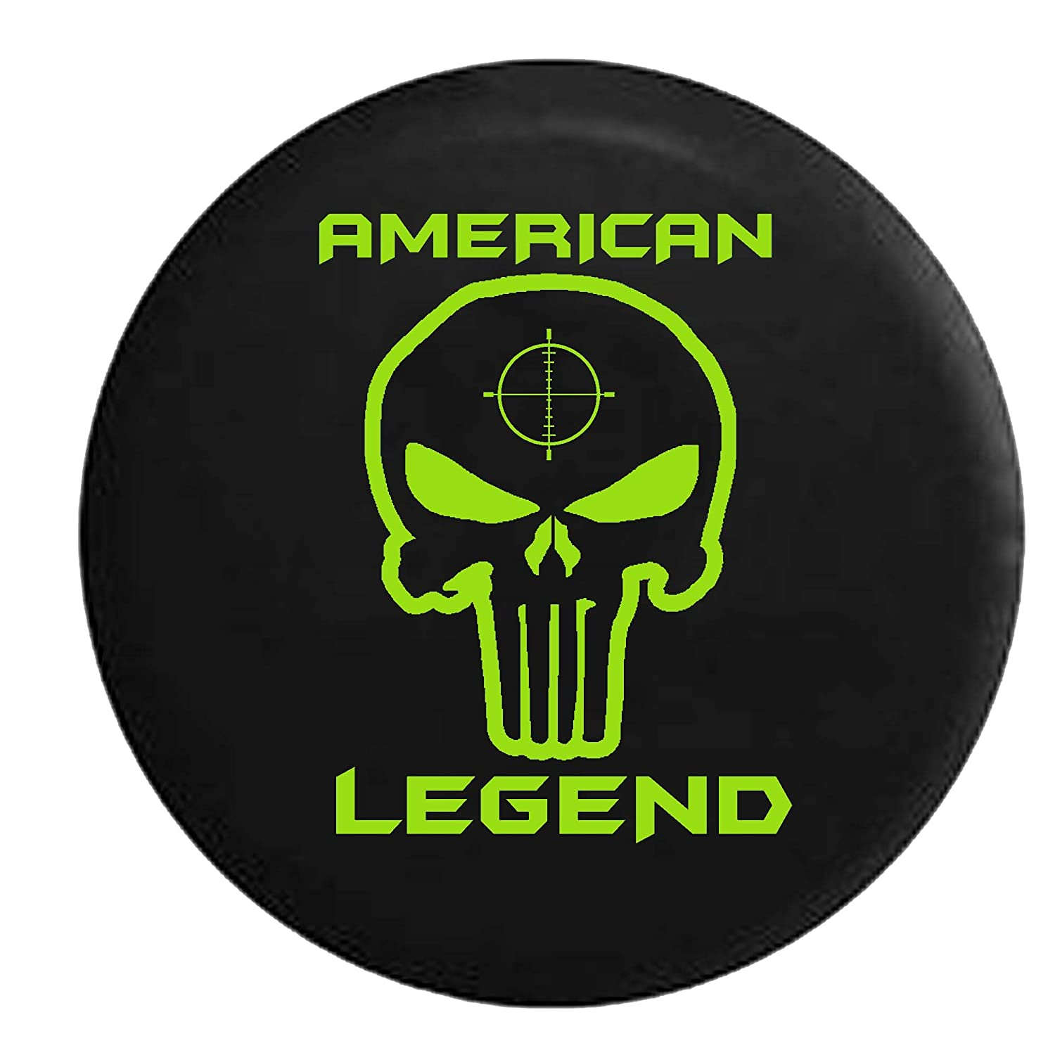 American Legend Spare Tire Cover Vinyl Black 33 in American Unlimited Lime