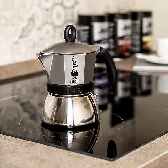 Bialetti Moka Induction Cafetera Italiana Espresso por Inducción, Aluminio, Gris Antracita, 3 Tazas: Amazon.es: Hogar