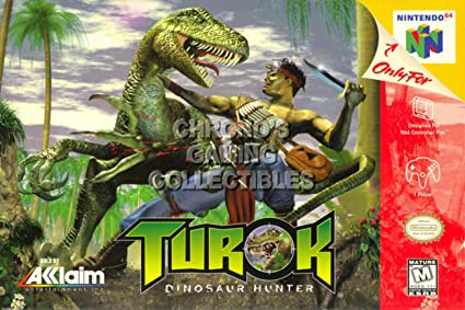 amazon com cgc huge poster turok dinosaur hunter nintendo 64