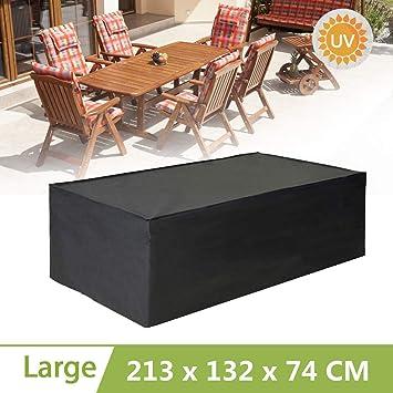king do way Funda para Muebles de Jardín Exterior Conjuntos de Muebles Cubierta Impermeable (213x 132x74 cm)