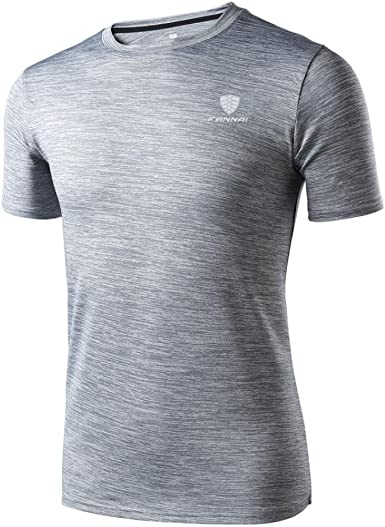 Camiseta de Manga Corta Hombre Polainas de Entrenamiento para Hombre Fitness Sports Gym Running Yoga Camisa atlética Top Blusa Camisas Deportivas (Gris, M): Amazon.es: Ropa y accesorios