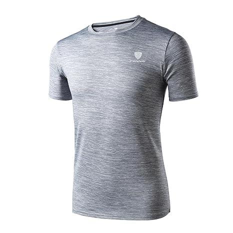 Camiseta de manga corta Hombre Polainas de entrenamiento para hombre Fitness Sports Gym Running Yoga Camisa