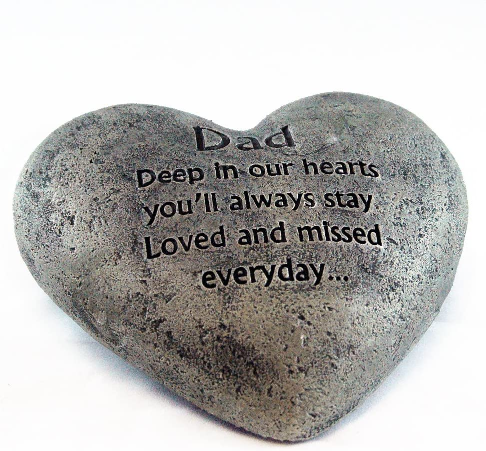 Gerson Heart Shaped Memory Stone for Dad