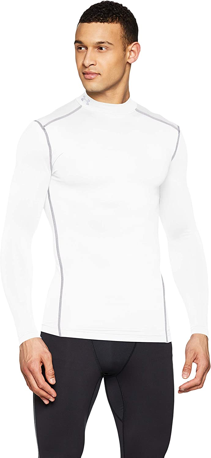 UA ColdGear Armour Compression Mock White / Steel