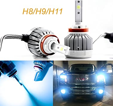 IRONWALLS LED Headlight 72W 9000LM HID White 3-Sided Kit Dual Hi//Lo Bulb H4 9003