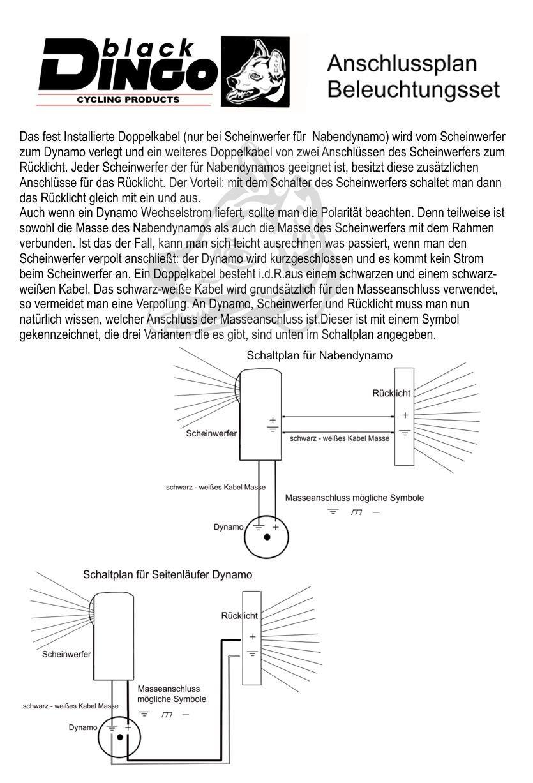 BDCP Fahrrad Nabendynamo Beleuchtungsset 5,UN-4255 LED-Scheinwerfer ...