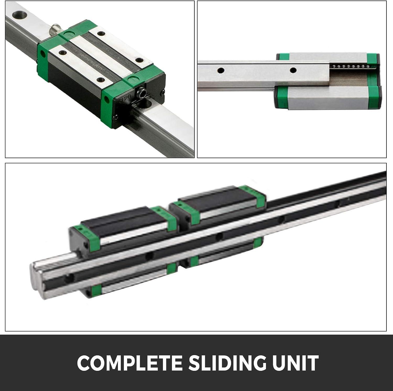 VEVOR Linearf/ührung HGR 20-1000mm Linearschiene mit 4PCS Gleitblock