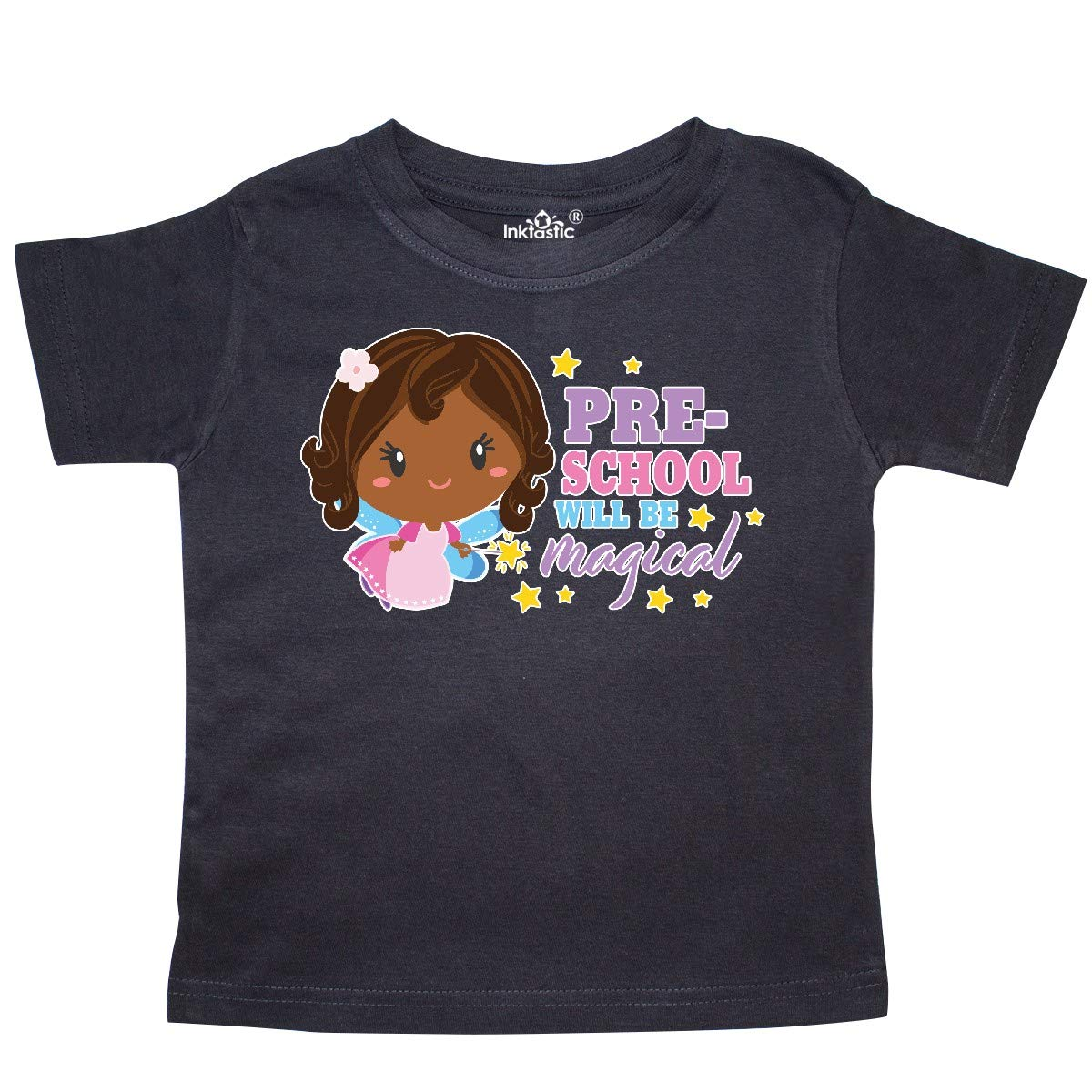 inktastic Preschool Will Be Magical with Brown Haired Fairy Toddler T-Shirt
