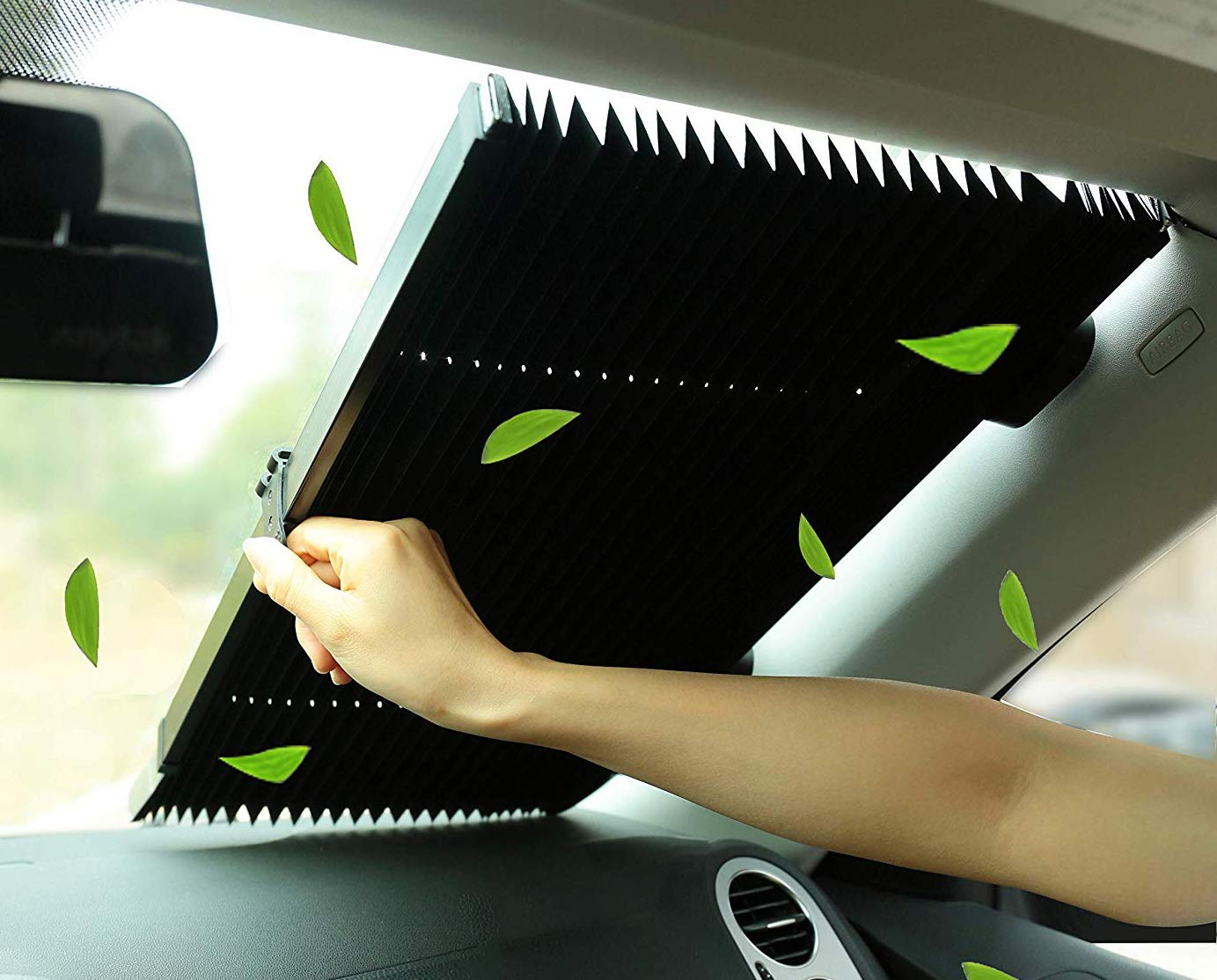 Marvellous/Car Windshield Sun Shade,Accordion Style Retractable Sun Shade,Front Window UV Heat Insulation Universal Car Sun Shades Keep Your Vehicle Cool