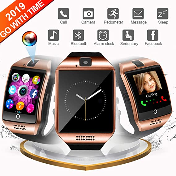 Smart Watch for Android, WATCHOO Touchscreen Bluetooth Smartwatch with Camera Unlocked Smart Watch with Sim Card Slot, Smartwatch Phone Compatible for ...