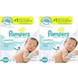 Pampers Sensitive Water-Based Baby Diaper Wipes, 18 Pop-Top Travel Packs - Hypoallergenic and Unscented