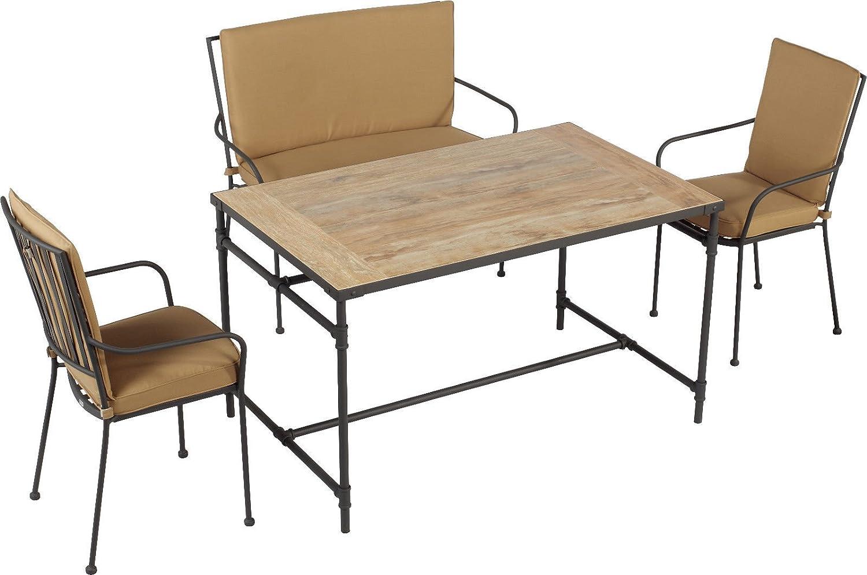 Tisch Aurel Keramik Holzoptik Incl 2 Stuhle 1 Bank Set