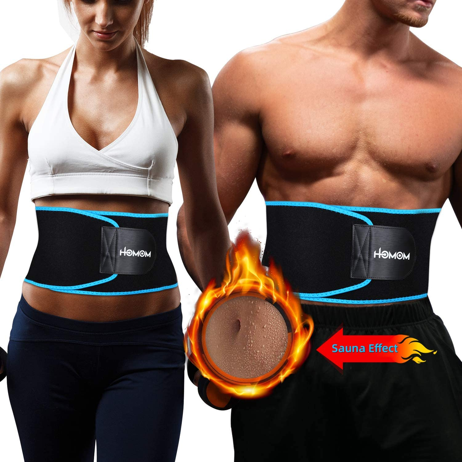 Low Back and Lumbar Ab Slimmer Belt for Women /& Men Waist Slimming Belt HLOMOM Waist Trimmer Waist Trainer