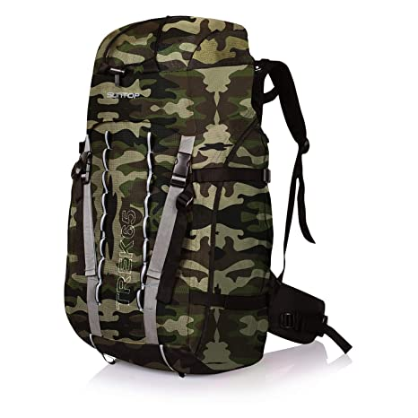b4c58e44f974 Suntop Trek 65L (with Internal Frame) Travel Bag Backpacking Backpack for Outdoor  Hiking Trekking Camping Rucksack(Jungle)  Amazon.in  Bags