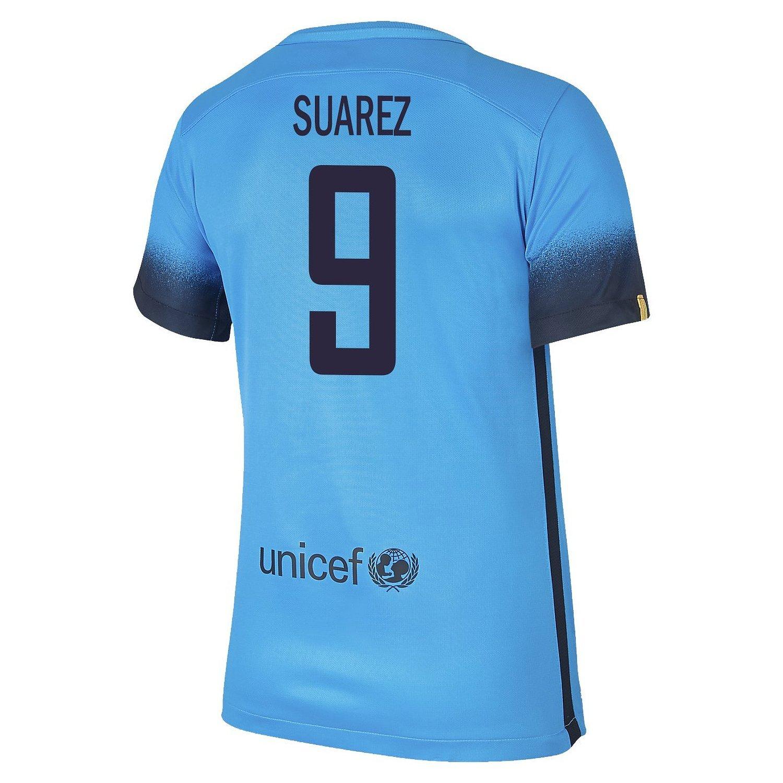 Nike Suarez #9 FC Barcelona Women's Third Jersey 2015-16/サッカーユニフォーム FCバルセロナ Third用 スアレス 背番号9 2015 レディース向け B019G1WMG8 Large, こにゃんこBRAND KID'S fe31afe3