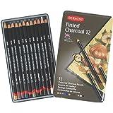 Derwent Tinted Charcoal Pencils Tin - Set of 12