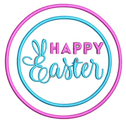 Amazon Com Happy Easter 3 5 Embroidered Patch Iron Sew On Family