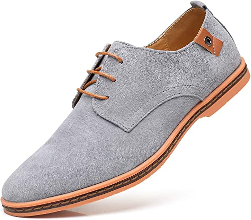 CAGAYA Herren Freizeit Schuhe aus Leder Business Anzugschuhe Atmungsaktiv Lederschuhe Oxford Halbschuhe Party Hochzeit übergrößen 38 46