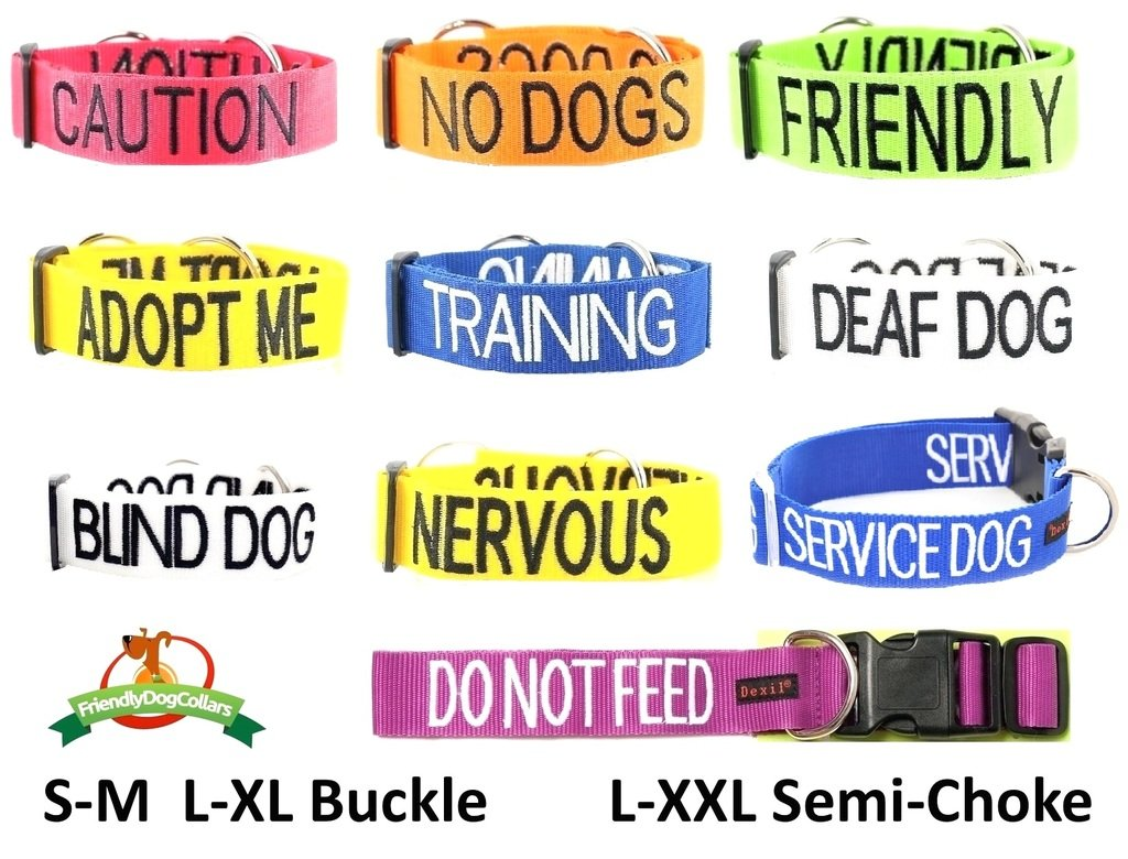 PREVENTS Accidents By Warning Others Of Your Dog In Advance FRIENDLY Green Dog Bandana Quality Personalised Embroidered Message Neck Scarf Fashion Accessory