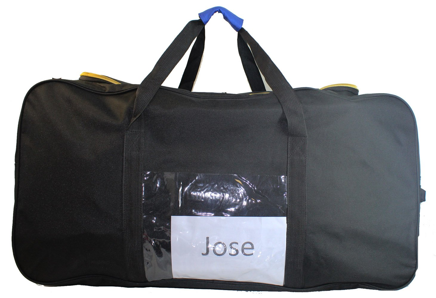 Jose's Eco Cuban-Traveler Check-In 50lb 62'' Duffel Bag + ID lock (Black)