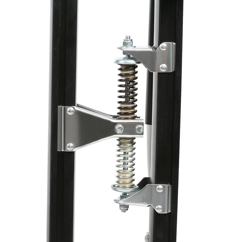 Pentagon Tools 1153 Black MAG Stilts 24-40 Mag Pros Magnesium Drywall Stilts 40 Height Load Capacity 228 lb Black 8 Width Magnesium 6 Length