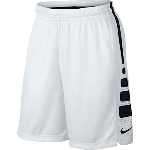 f1a2d851e026 Men s Nike Elite Stripe Basketball Shorts White Black Wolf Grey Size Large   Buy Online at Low Prices in India - Amazon.in