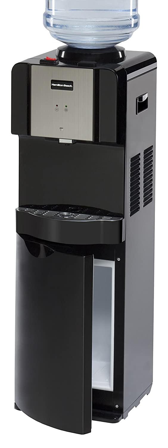Hamilton Beach TL-5-4A Top Loading Water Dispenser with Storage Cabinet, Hot and Cold Temperatures, Black PRS Enterprises