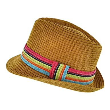 96be92356a1f7 Image Unavailable. Image not available for. Color  2Chique Boutique Women s  Trendy Multi Color and Camel Fedora