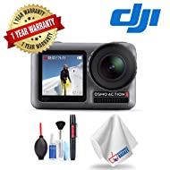 DJI Osmo Action with 1 Year Extended Warranty, Cleaning Kit