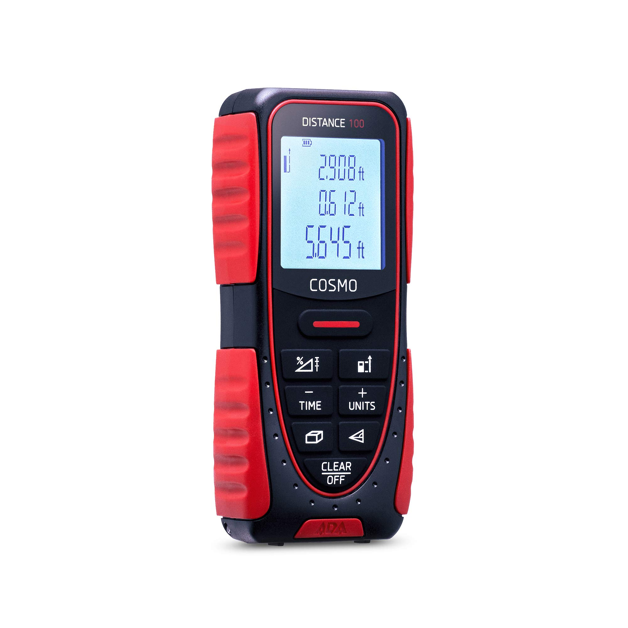 ADA Cosmo 100, Laser Distance Measure 328 Feet, Professional Digital Laser Distance Meter with LCD Display (А00412)