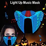flashingworld Music LED Party Mask With Sound Active For Dancing,Riding,Skating,Party and any Festival