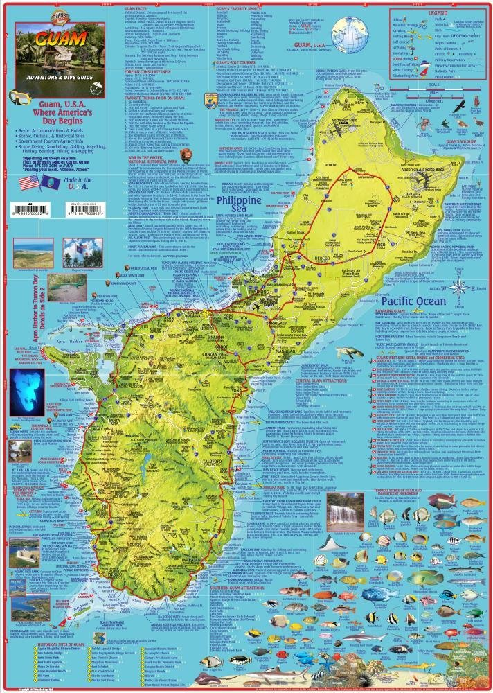 Guam Adventure & Dive Guide Franko Maps Waterproof Map: Franko Maps ...