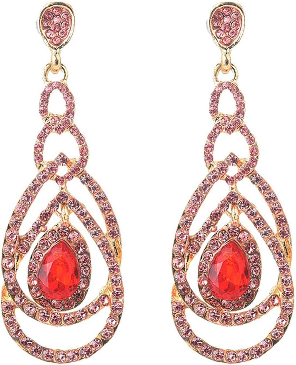 Cool House Uk Jewelry Exaggerated Long Geometric Circle Diamond Earrings Daily Wild Trend Full Diamond Earrings Amazon Co Uk Kitchen Home