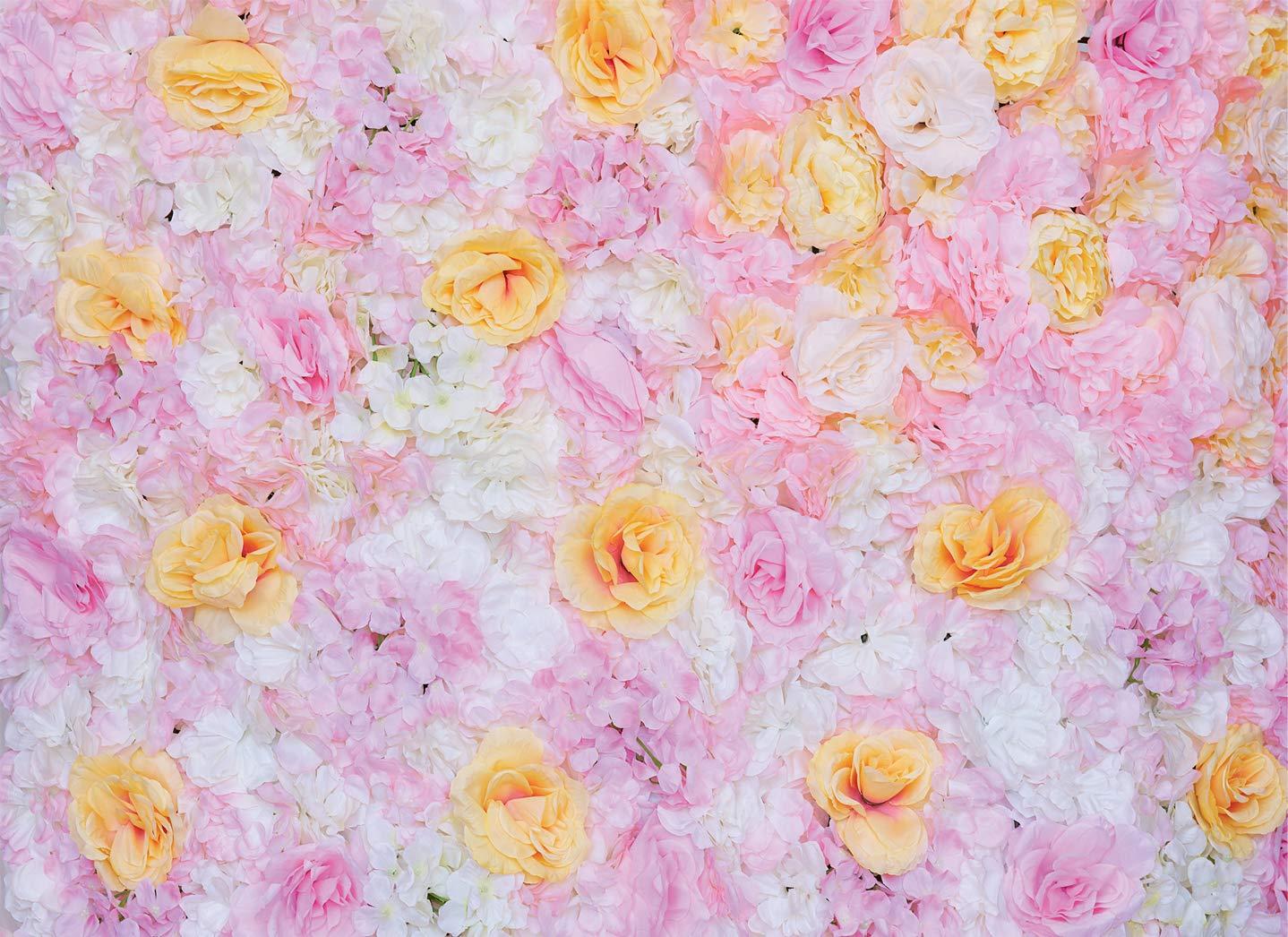 48インチ x 96インチ 人工シルク バラの花 壁の背景 結婚式 パーティー 装飾 B07H9GMSNZ