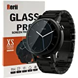 Moto 360 Screen Protector - Rerii Tempered Glass, Screen Protector for Moto 360 2nd Generation 46mm Watch, 9H Hardness, 0.3mm Thickness, Delicate Touch, Real Glass Screen Protector
