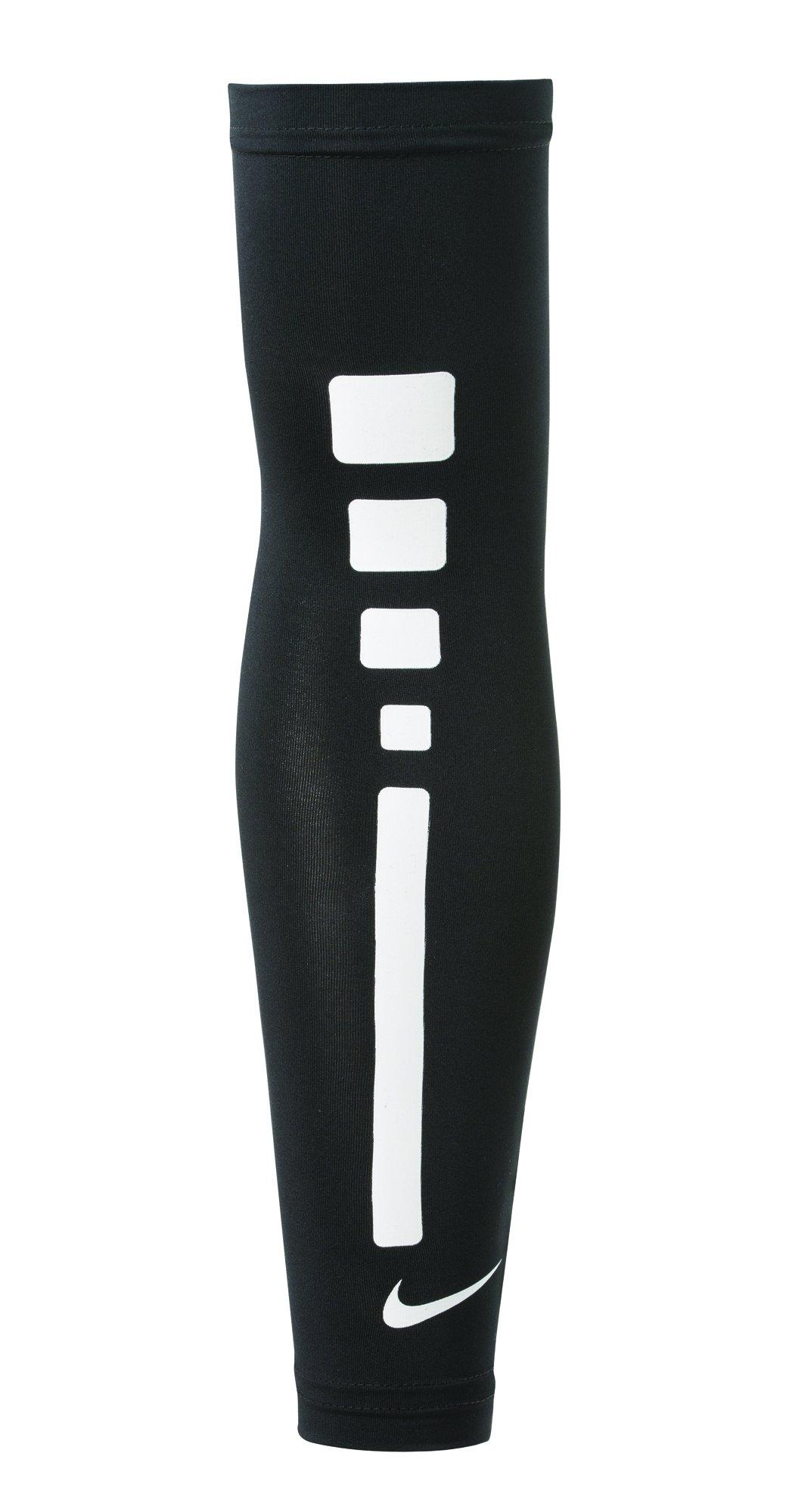 NIKE Men's Pro Combat Elite Sleeve (Black/White/White, S/M)