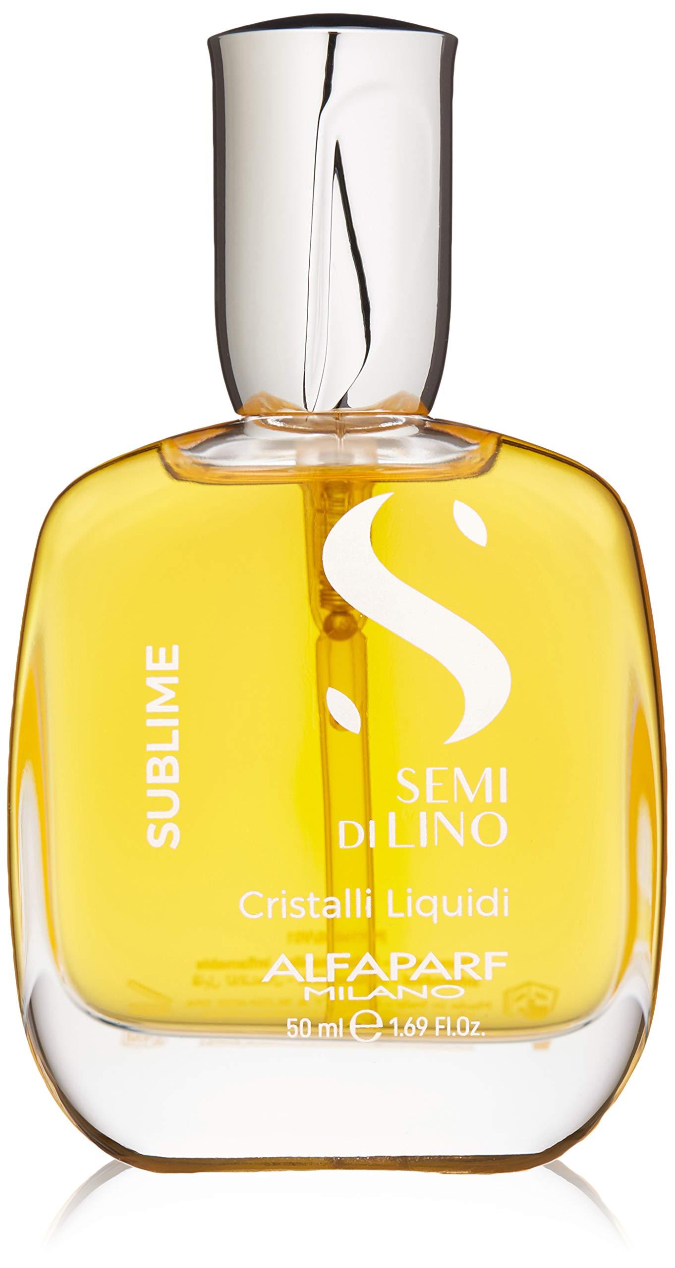 Alfaparf Milano Semi Di Lino Sublime Cristalli Liquidi Finishing Smoothing Serum - Provides Shine and Protection - Professional Salon Quality