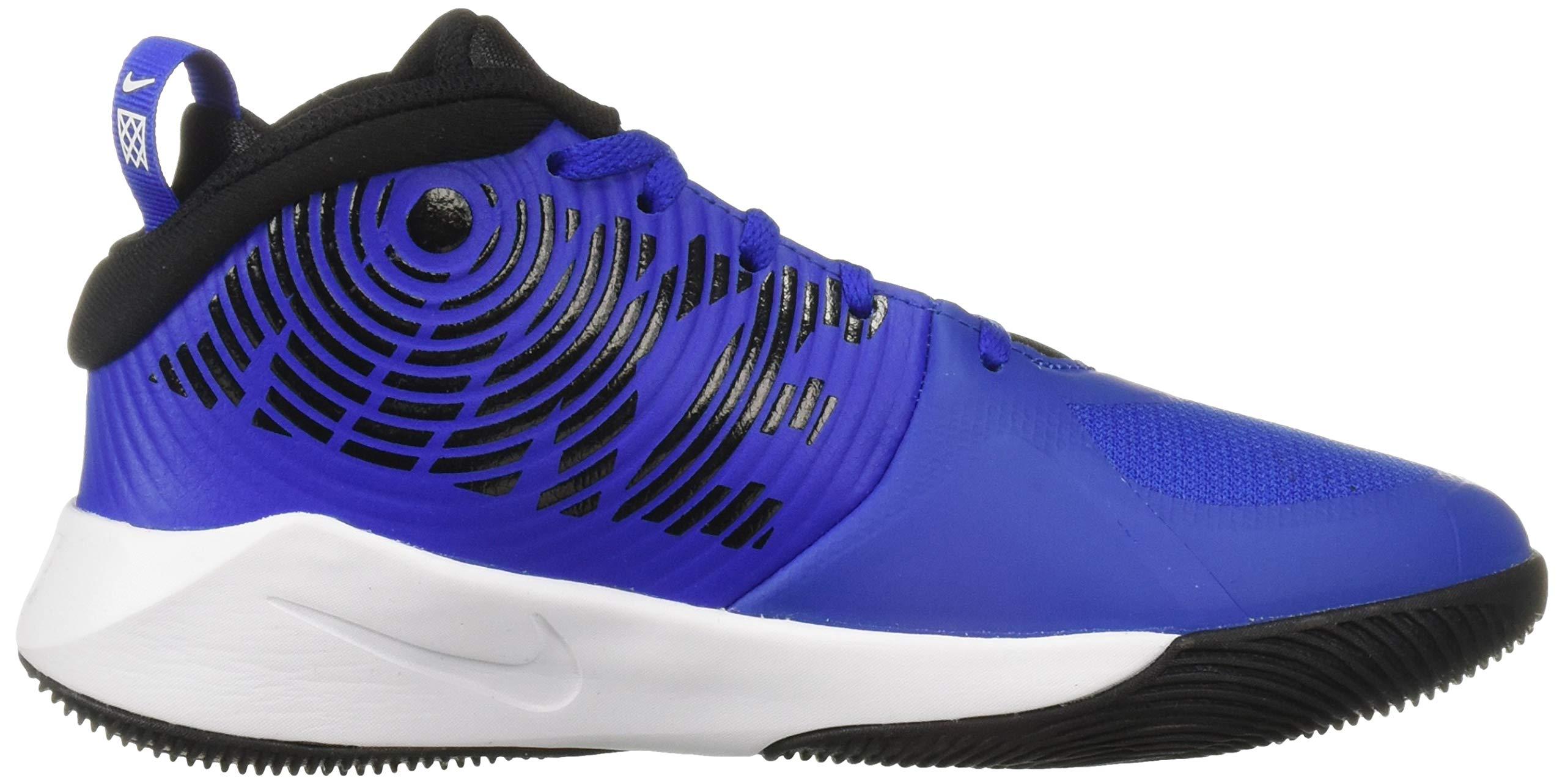 Nike Unisex Team Hustle D 9 (GS) Sneaker, Game Royal/Black - White, 5Y Regular US Big Kid by Nike (Image #9)