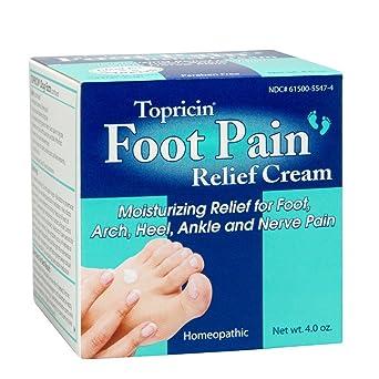 Topricin Foot - Crema para aliviar el dolor de pies (4 oz)