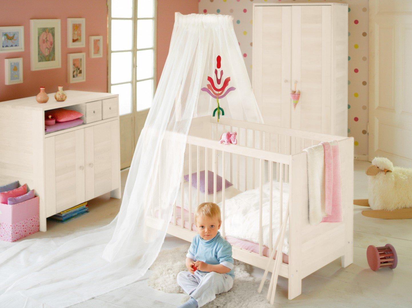 BioKinder 23906 Niklas Spar-Set Babyzimmer aus Massivholz Kiefer weiß