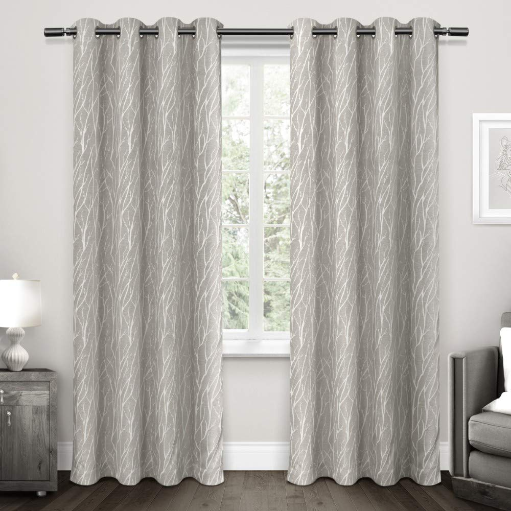 """Exclusive Home Curtains Forest Hill Panel Pair, 84"""" Length, Dove Grey, 2 Piece"""