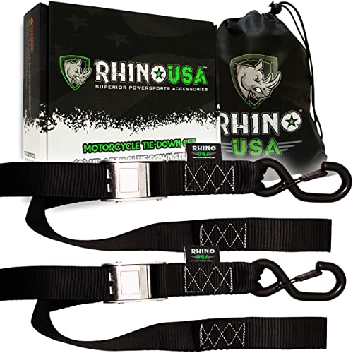 Rhino USA Motorcycle Tie Down Straps