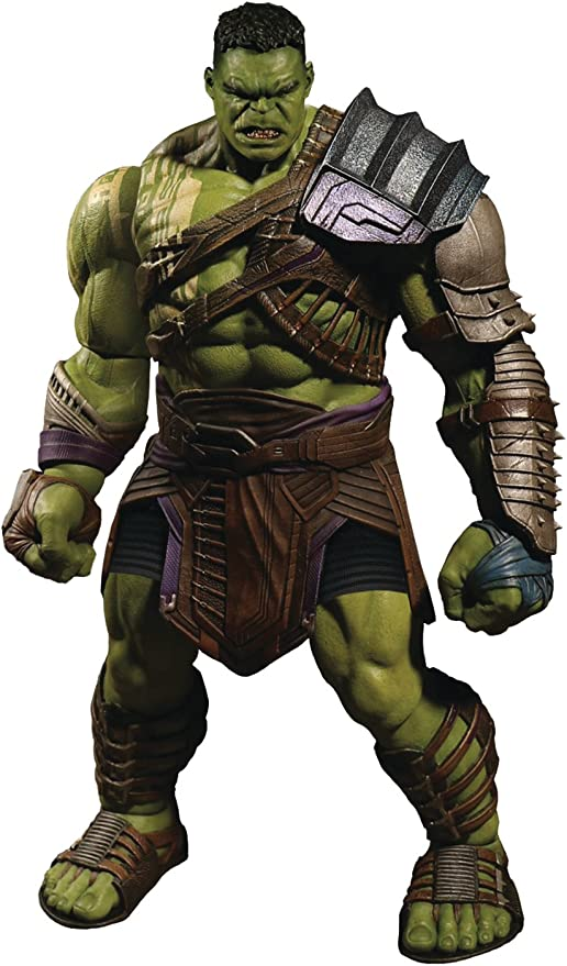 Amazon Com Mezco Toys One 12 Collective Marvel Thor Ragnarok Gladiator Hulk Action Figure Toys Games