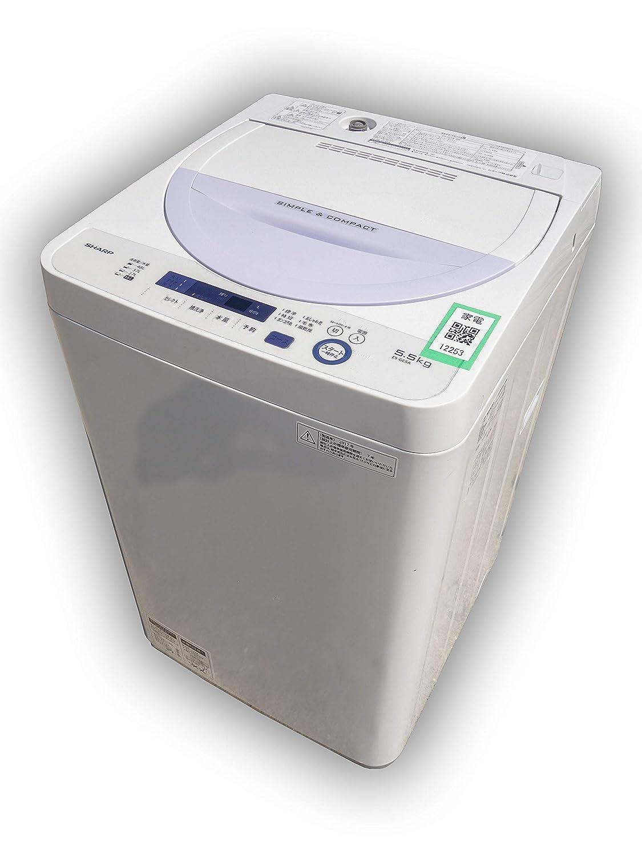 D▼シャープ 洗濯機 2017年 5.5kg 風乾燥 おしゃれ着洗い ステンレス槽 ES-GE5A (12253)   B07H5CS2FG