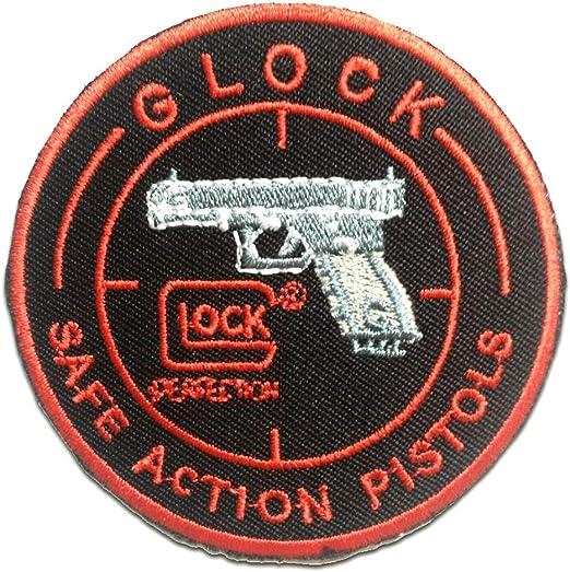 Parches - GLOCK Safe Action Pistols Logo - negro - 7.5x7.5cm ...