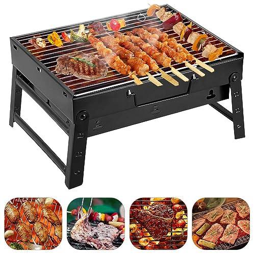 Holzkohlegrills Klein Klappgrill Tragbar Picknickgrill für Garten Camping Party BBQ ca 352720cm Grillfläche Klein