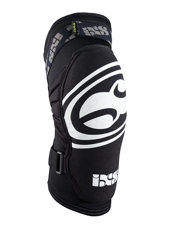 IXSブラック2015 Carveのペア子供用MTB膝ガード ブラック Kids S
