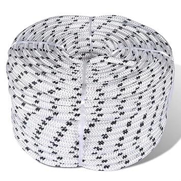 Polyesterseil Polyester Seil 14mm 30m Schwarz Geflochten PES Tauwerk Leine