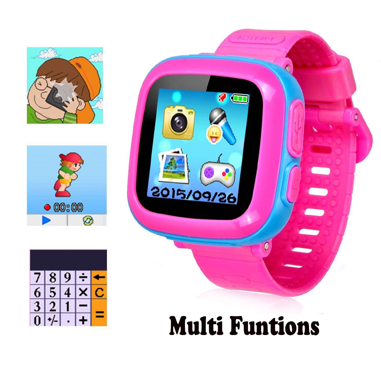 Smart Watch for Kids Girls Boys,Smart Game Watch with Camera Touch Screen Pedometer,Kids Smart Watch Perfect Holiday Birthday Toys Gifts (Joint Blue) by MIMLI (Image #2)